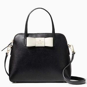 kate spade maise matthews street black leather bag